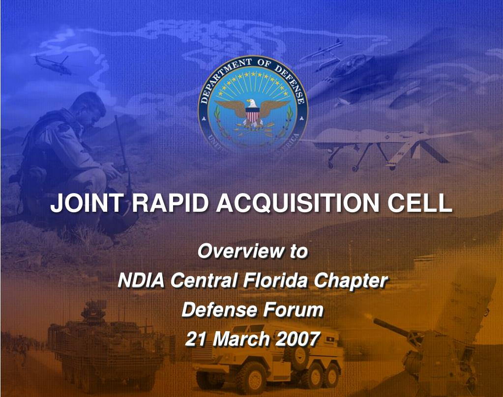 joint rapid acquisition cell l.