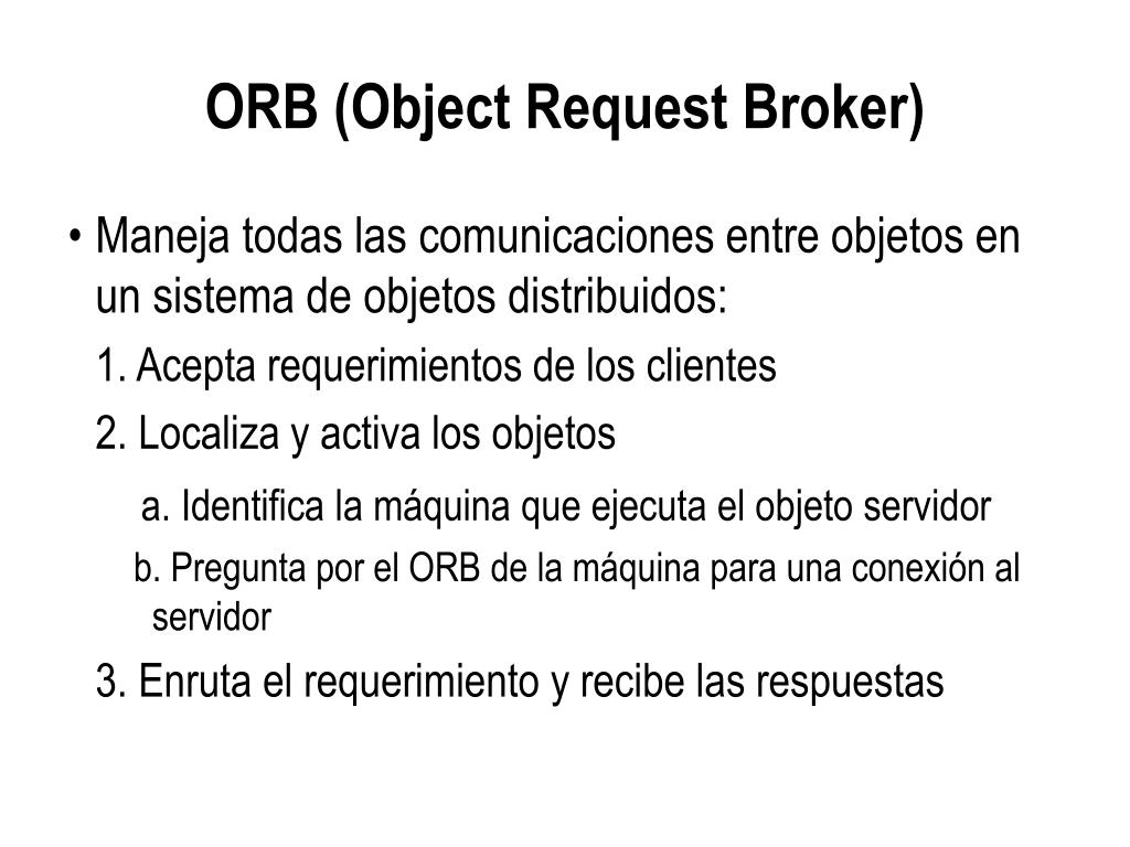 ORB (Object Request Broker)