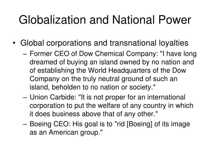 Globalization and National Power