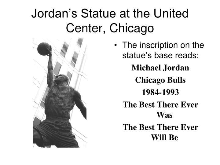 Jordan's Statue at the United Center, Chicago