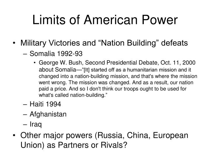 Limits of American Power