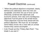 powell doctrine continued