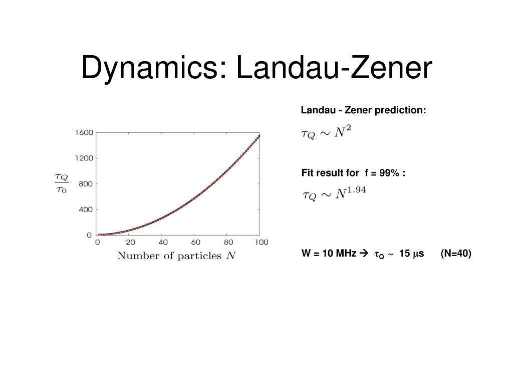Dynamics: Landau-Zener