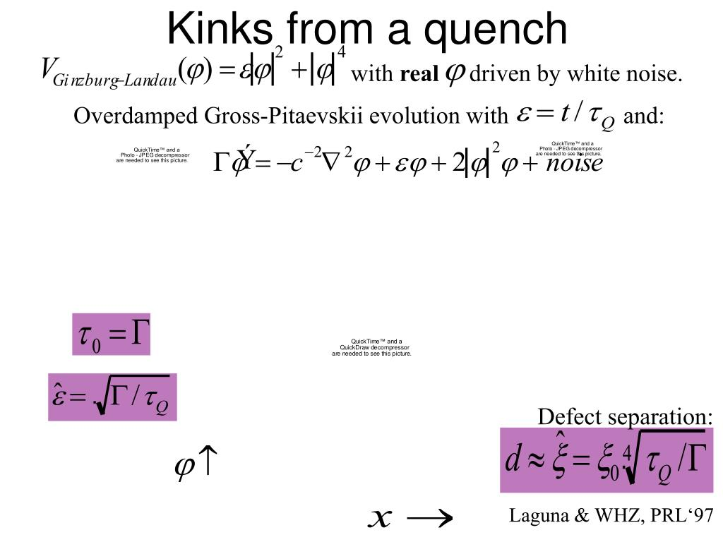 Kinks from a quench
