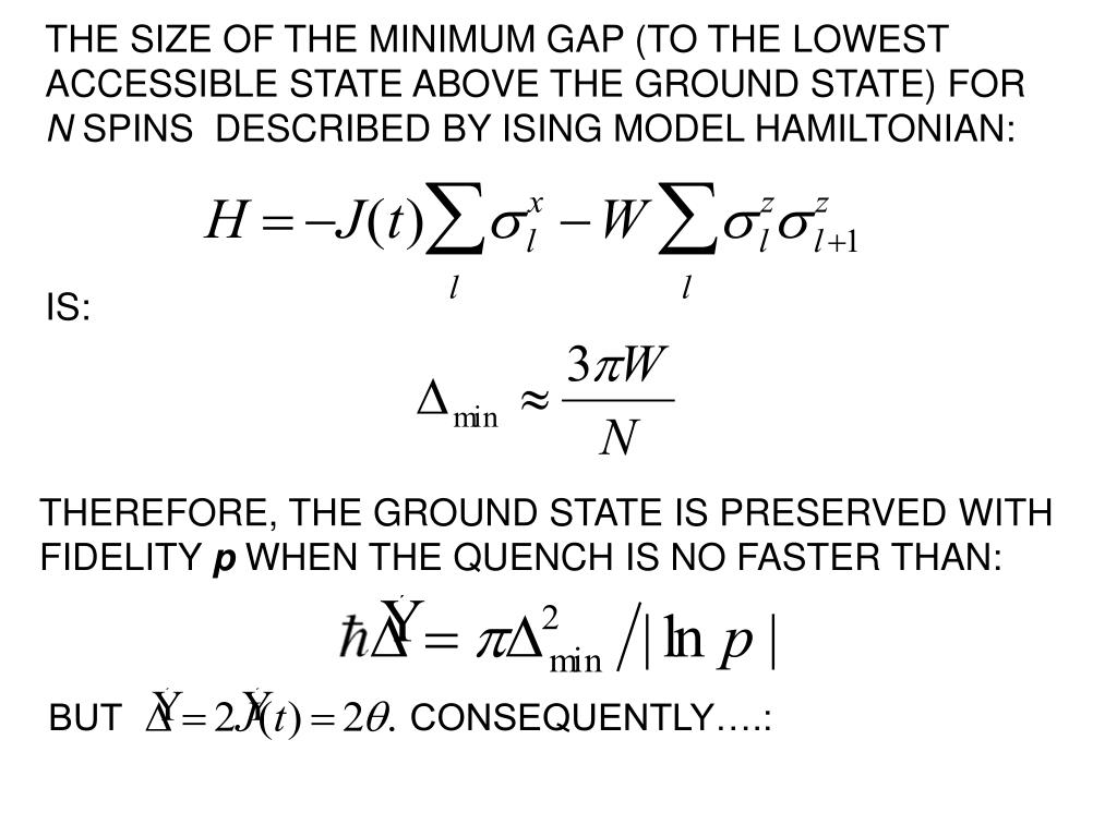 THE SIZE OF THE MINIMUM GAP (TO THE LOWEST