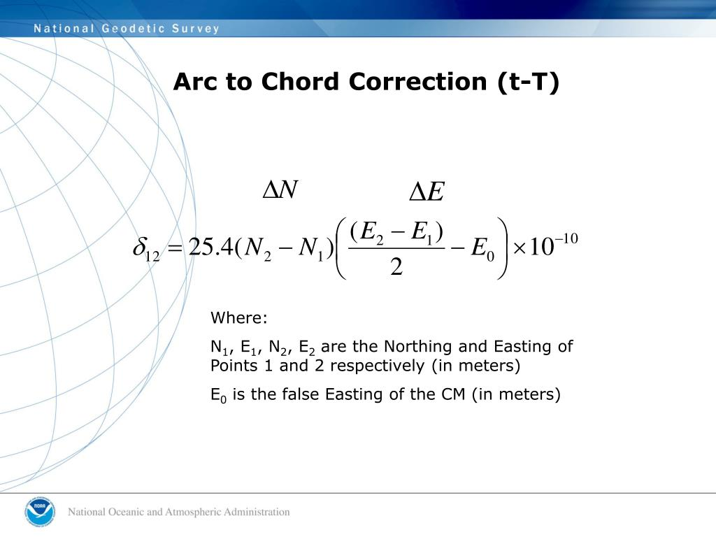 Arc to Chord Correction (t-T)