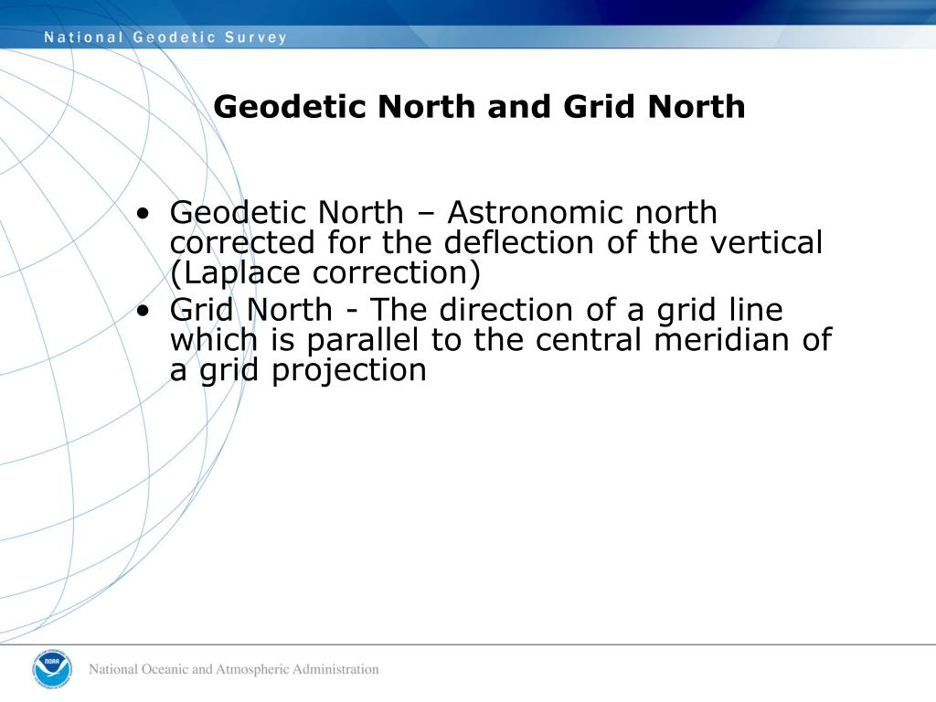 Geodetic North and Grid North