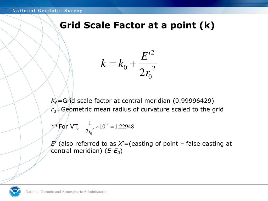 Grid Scale Factor at a point (k)