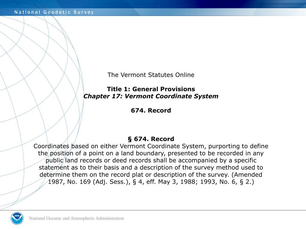 The Vermont Statutes Online