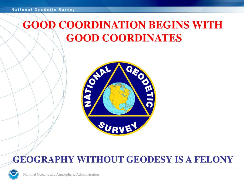 GOOD COORDINATION BEGINS WITH