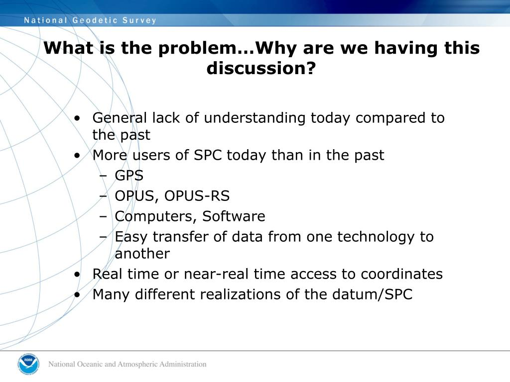 What is the problem…Why are we having this discussion?