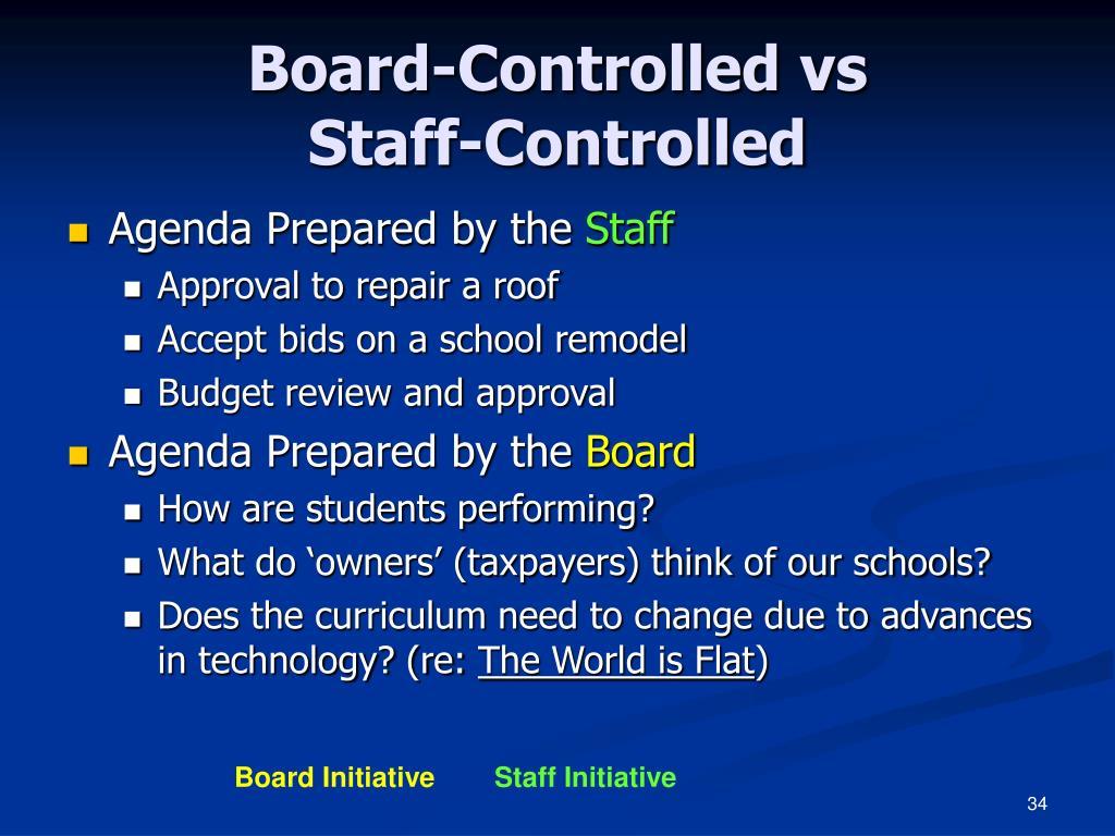 Board-Controlled vs
