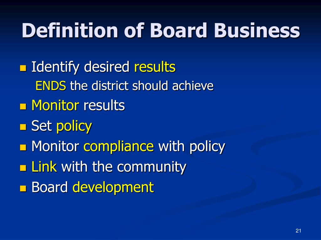 Definition of Board Business