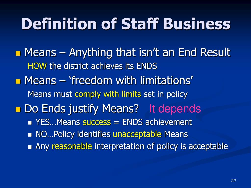 Definition of Staff Business