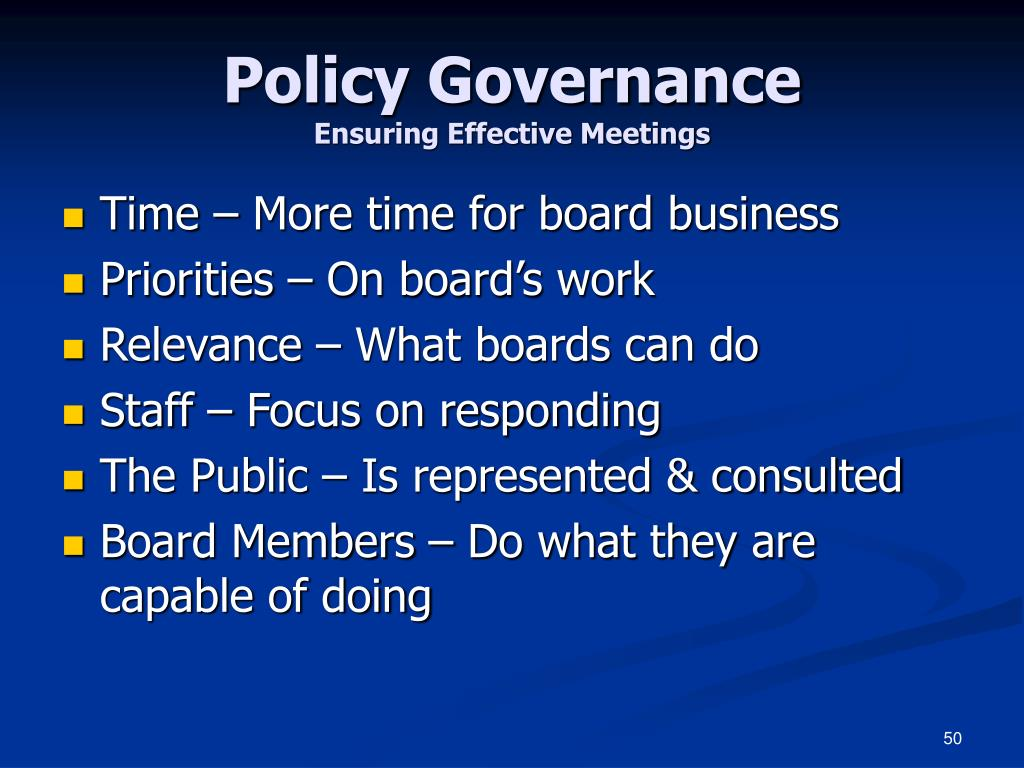 Policy Governance