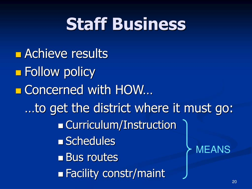 Staff Business