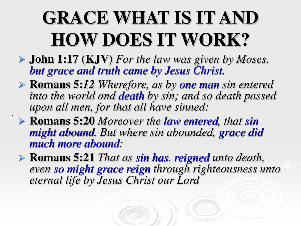 GRACE WHAT IS IT AND HOW DOES IT WORK?