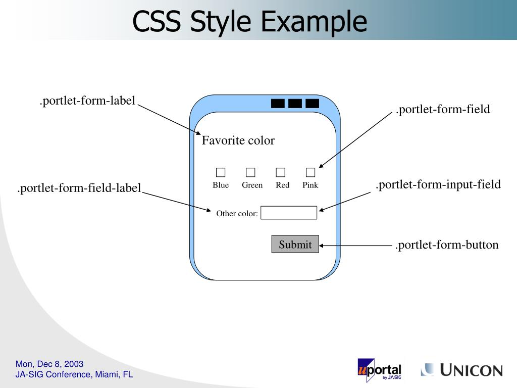 CSS Style Example