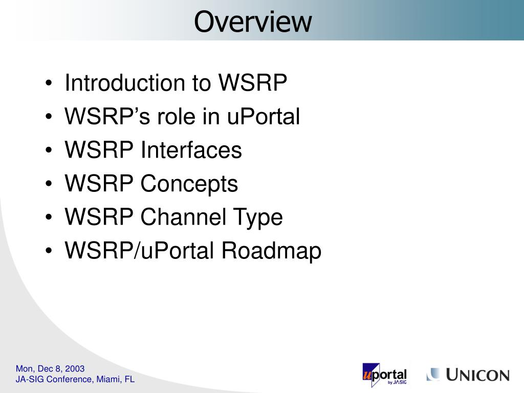Introduction to WSRP