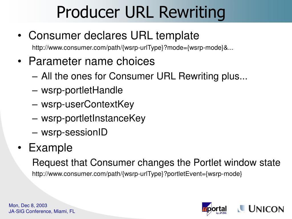 Consumer declares URL template
