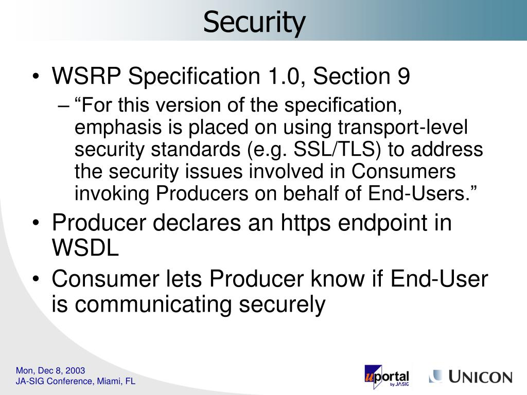 WSRP Specification 1.0, Section 9