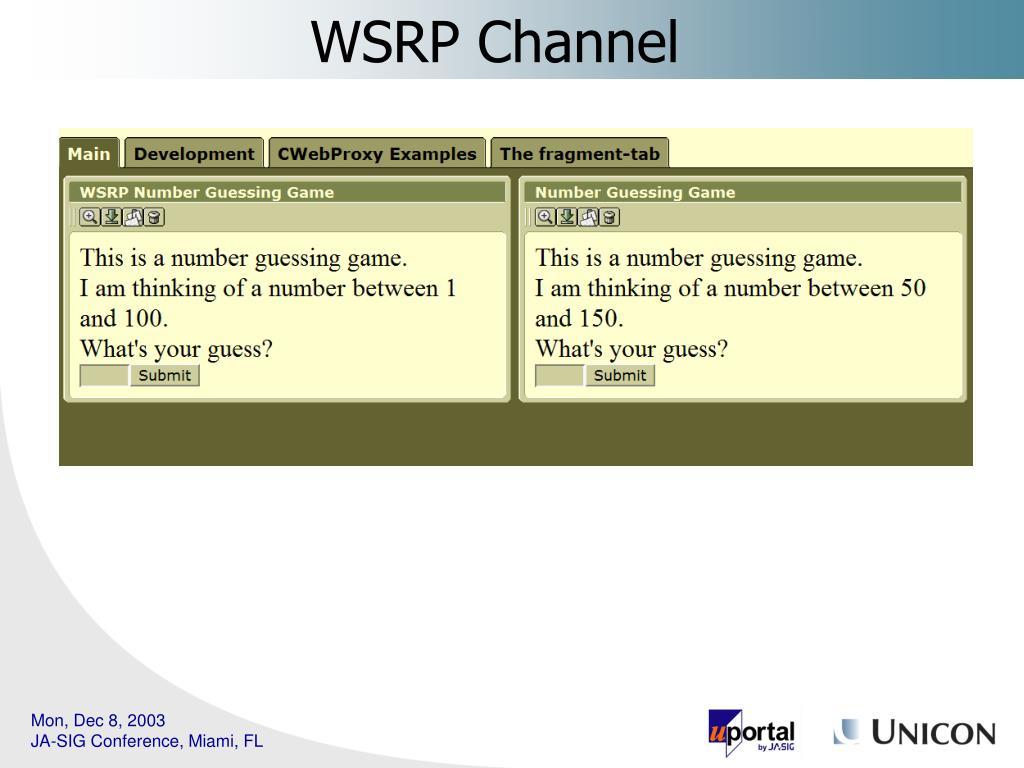 WSRP Channel