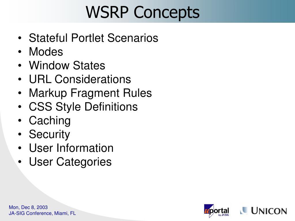 Stateful Portlet Scenarios