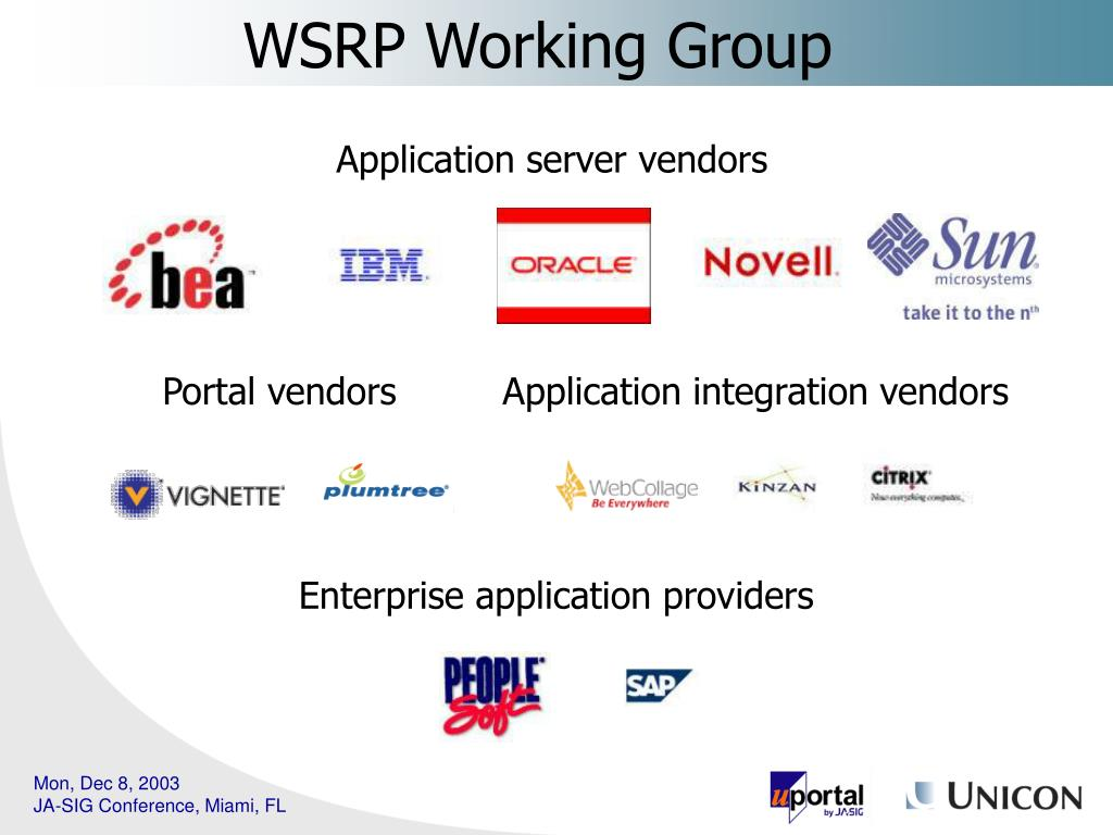 WSRP Working Group