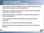 time management business process changes