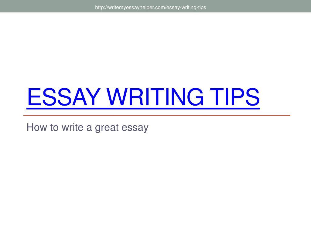 essay writing tips l.