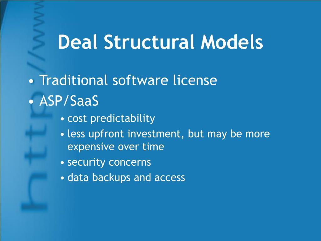 Deal Structural Models