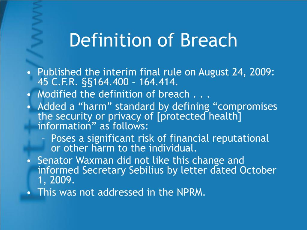 Definition of Breach