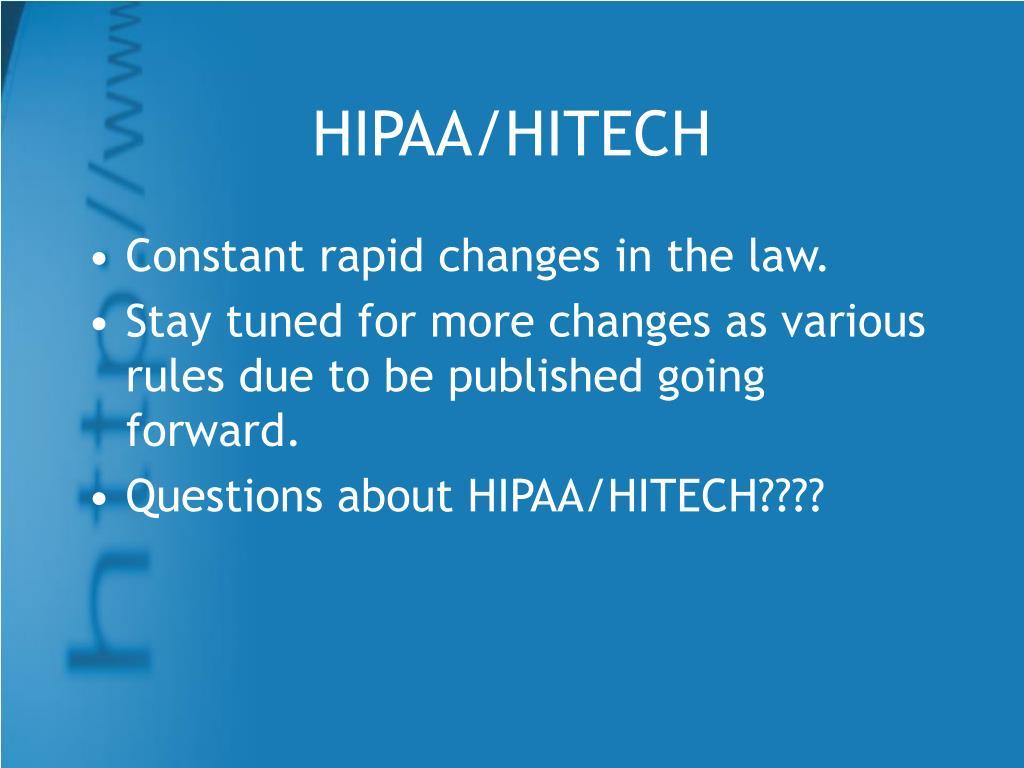 HIPAA/HITECH