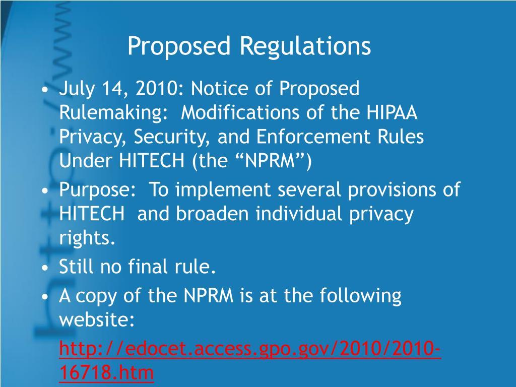 Proposed Regulations