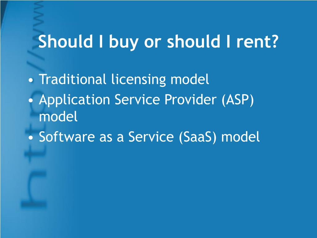 Should I buy or should I rent?