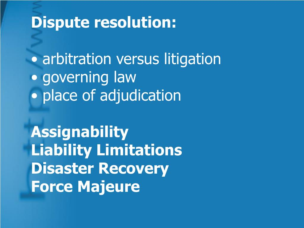 Dispute resolution:
