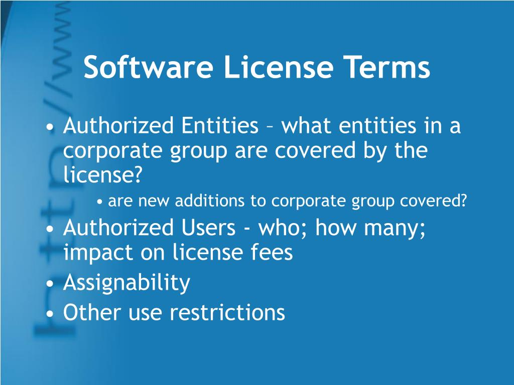 Software License Terms