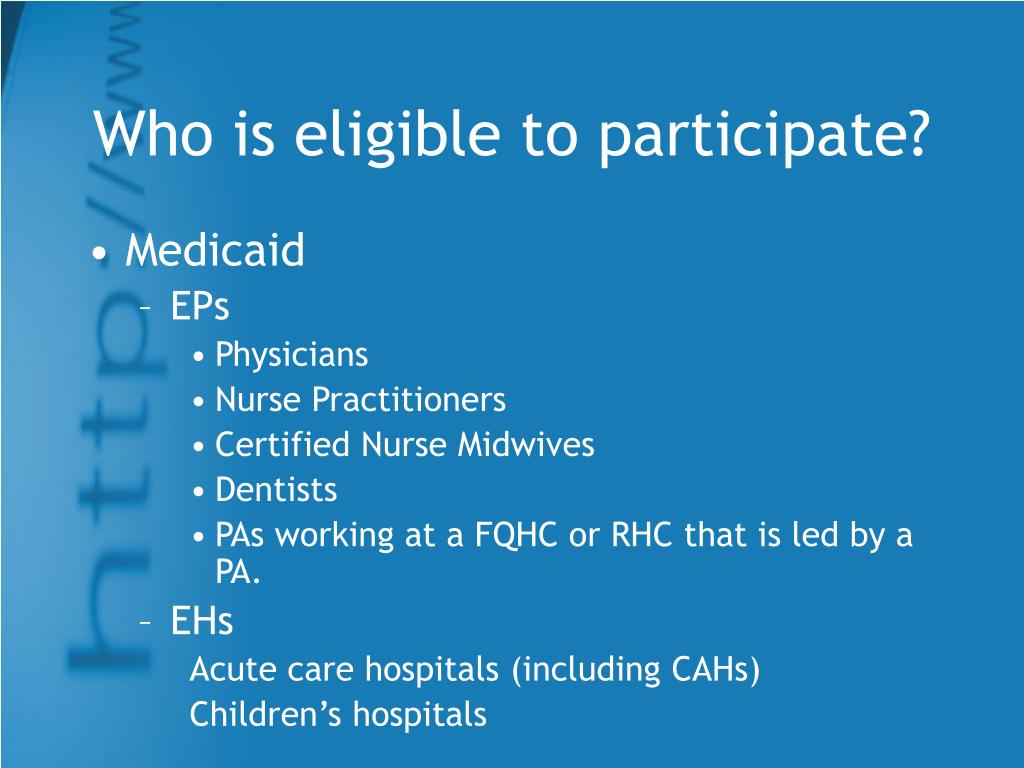 Who is eligible to participate?