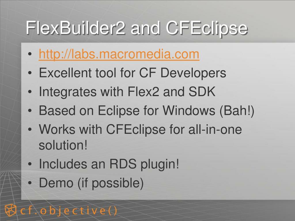 FlexBuilder2 and CFEclipse