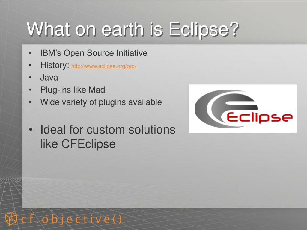 What on earth is Eclipse?