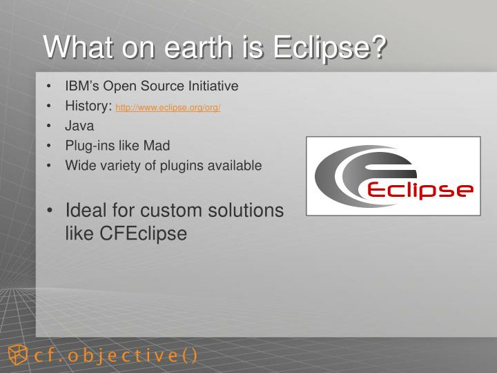 What on earth is eclipse
