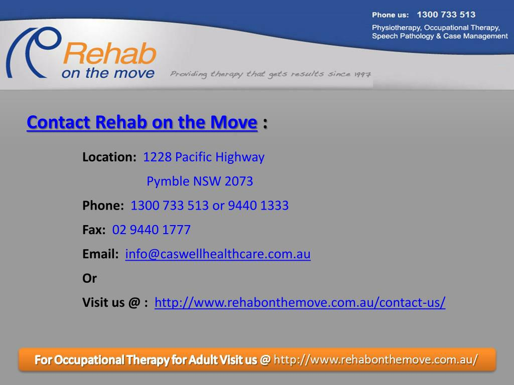 Contact Rehab on the Move
