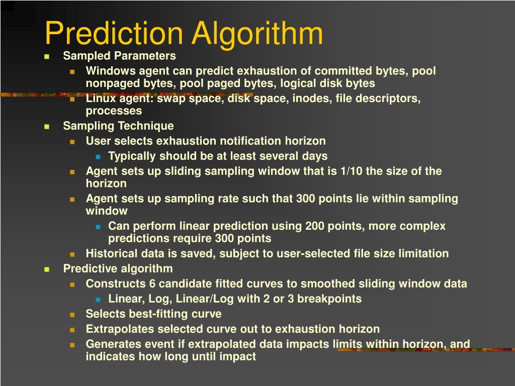 Prediction Algorithm