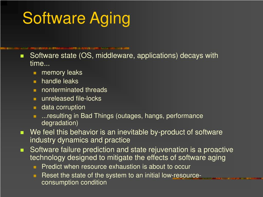 Software Aging