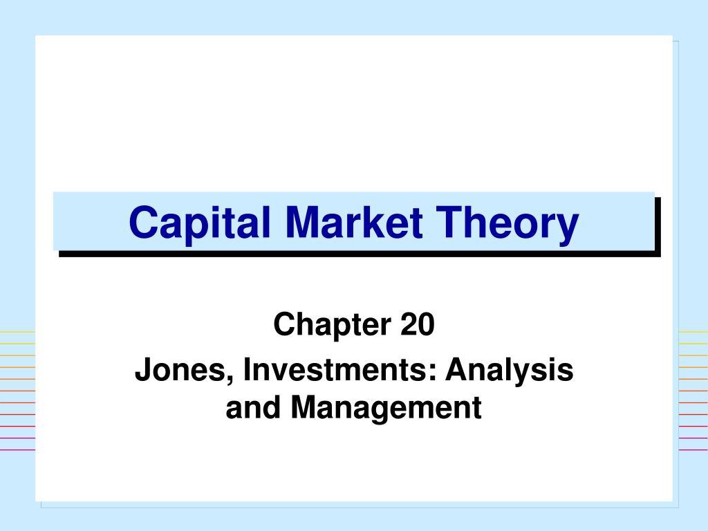 Chapter v capital market theory.