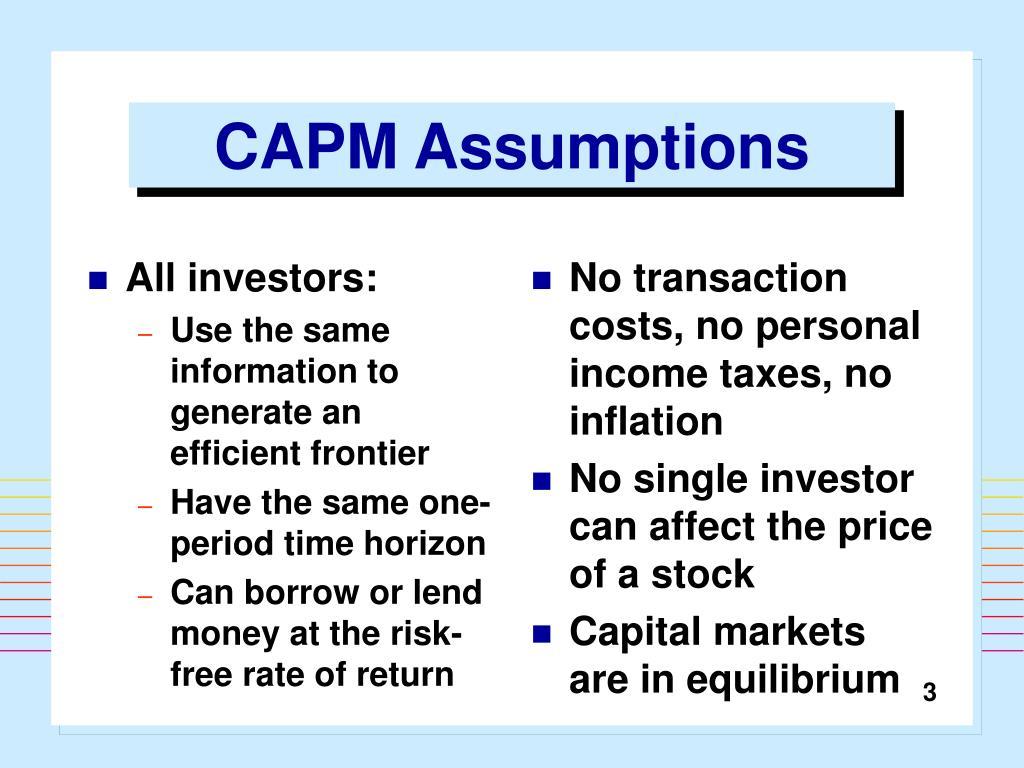 All investors:
