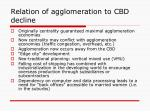 relation of agglomeration to cbd decline