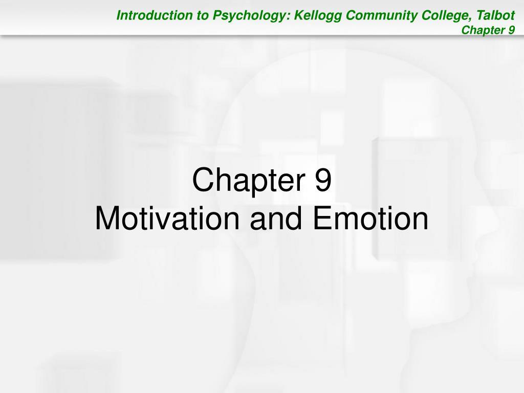chapter 9 motivation and emotion l.