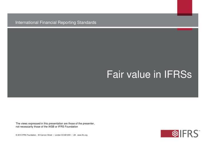Fair value in ifrss
