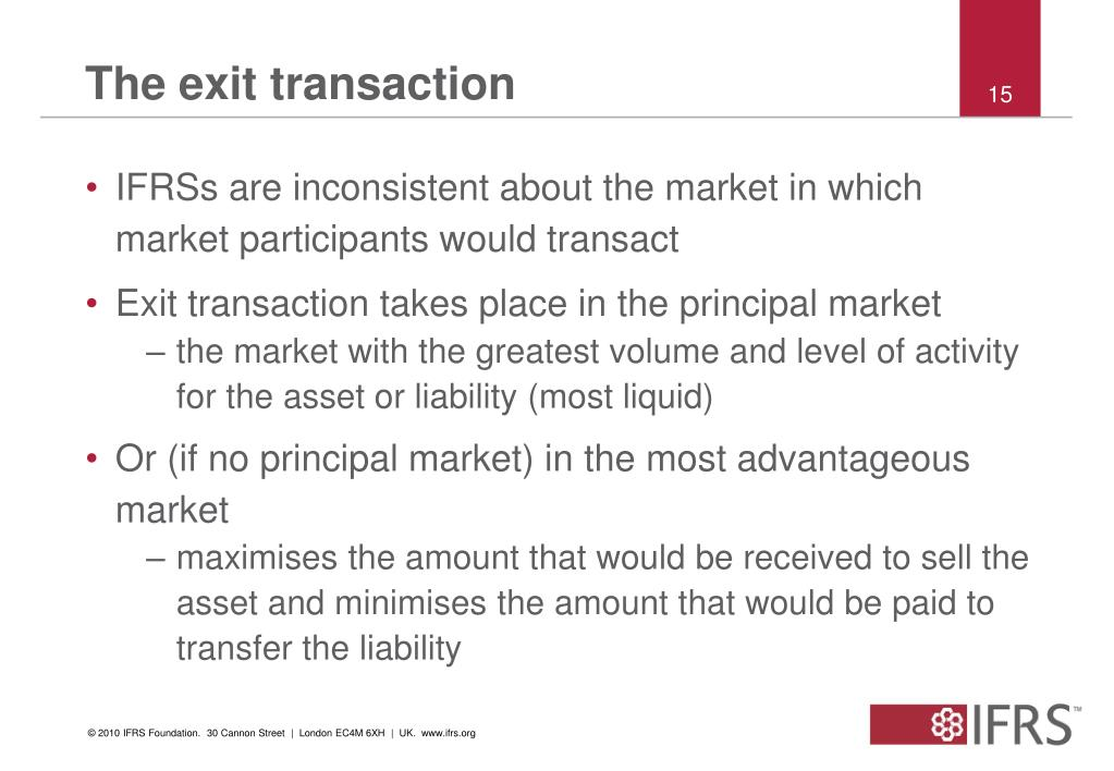 The exit transaction